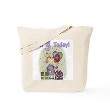 Birthday Girl 3rd Birthday Tote Bag