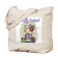 Birthday Girl 4th Birthday Tote Bag