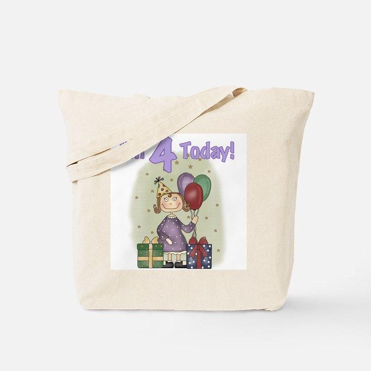 Birthday Girl 4th Birthday Tote Bag