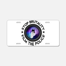 Film The Police Aluminum License Plate