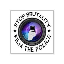 """Film The Police Square Sticker 3"""" x 3"""""""