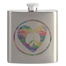 Rainbow Peace Heart C Flask