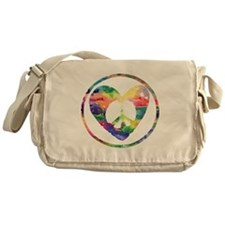 Rainbow Peace Heart C Messenger Bag
