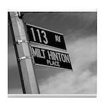 Milt Hinton Street Sign St. Albans Tile Coaster