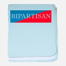 Bipartisan Two Color Sticker baby blanket