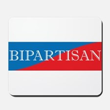 Bipartisan Two Color Sticker Mousepad