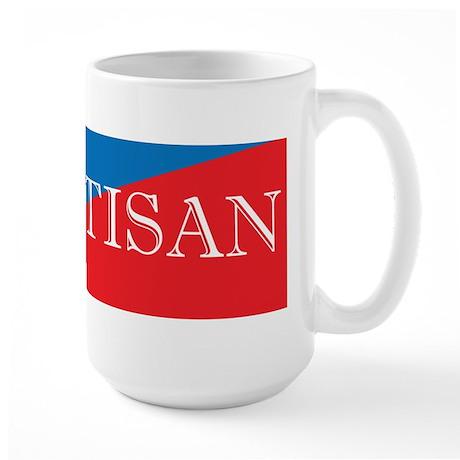 Bipartisan Two Color Sticker Large Mug