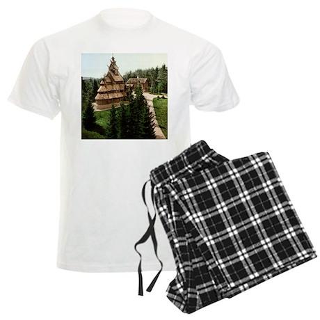 Gol Stave Church Men's Light Pajamas