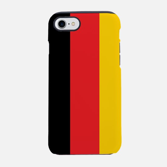 German Tricolor Flag in Black Red and Yellow iPhon