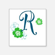 "Letter R Square Sticker 3"" x 3"""