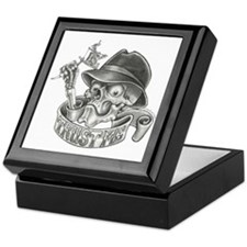 Wicked Skull with Tattoo Machine Keepsake Box