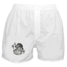 Wicked Skull with Tattoo Machine Boxer Shorts