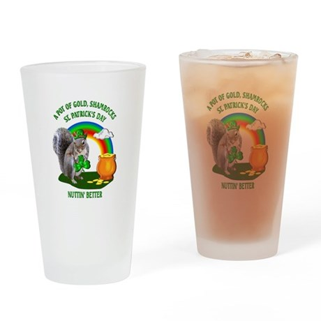Squirrel St. Patrick's Day Drinking Glass