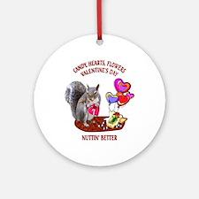 Squirrel Valentine's Day Ornament (Round)