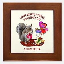 Squirrel Valentine's Day Framed Tile