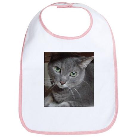 Russian Blue Gray Cat Bib