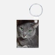 Gray Cat Russian Blue Keychains