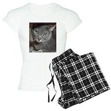 Gray Cat Russian Blue pajamas