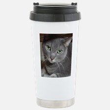 Gray Cat Russian Blue Stainless Steel Travel Mug