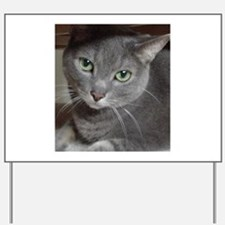 Gray Cat Russian Blue Yard Sign