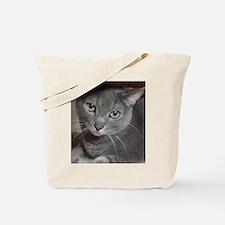 Gray Cat Russian Blue Tote Bag