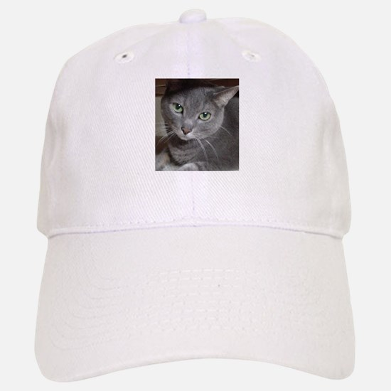 Gray Cat Russian Blue Baseball Baseball Cap
