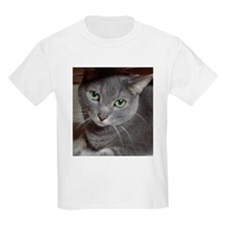 Gray Cat Russian Blue T-Shirt