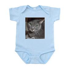 Gray Cat Russian Blue Infant Bodysuit