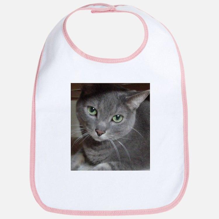 Gray Cat Russian Blue Bib