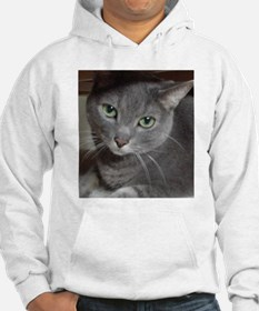 Gray Cat Russian Blue Hoodie