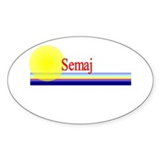 Semaj Oval Decal