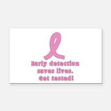Early Detection Saves Lives - Get tested Rectangle