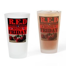 R.E.D Friday Drinking Glass