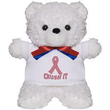 CRUSH IT Pink Ribbon Teddy Bear