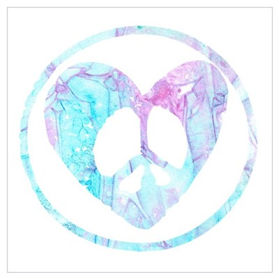 Blue Mist Peace Heart C Wall Art Canvas Art