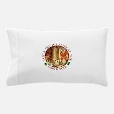 Santa and His Elve's Bake Christmas Cookies Pillow