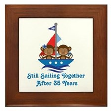 35th Anniversary Sailing Framed Tile
