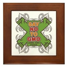 Say No to GMO Framed Tile
