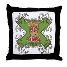 Say No to GMO Throw Pillow