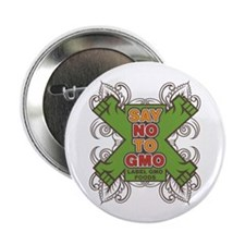 "Say No to GMO 2.25"" Button (100 pack)"