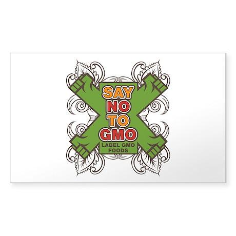 Say No to GMO Sticker (Rectangle)