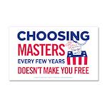 Choosing Masters Car Magnet 20 x 12
