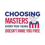 Choosing Masters 35x21 Wall Decal