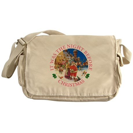 Christmas Eve At The North Pole Messenger Bag
