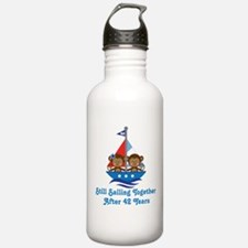 42nd Anniversary Sailing Water Bottle
