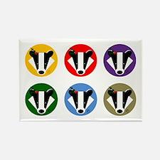 Christmas Badger Face Rectangle Magnet