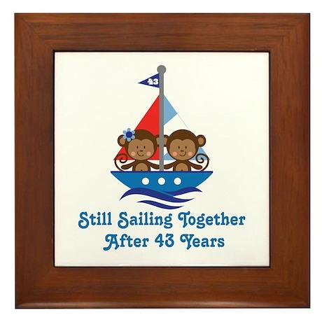 43rd Anniversary Sailing Framed Tile
