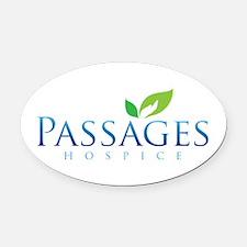Passages Hospice Logo Oval Car Magnet