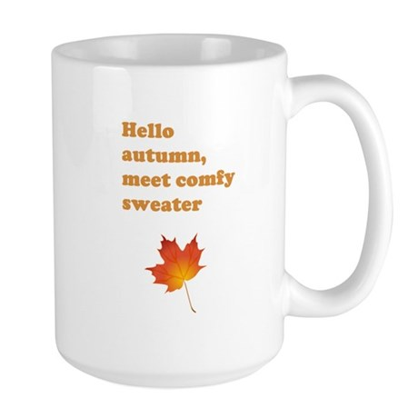 Autumn comfy sweater Large Mug