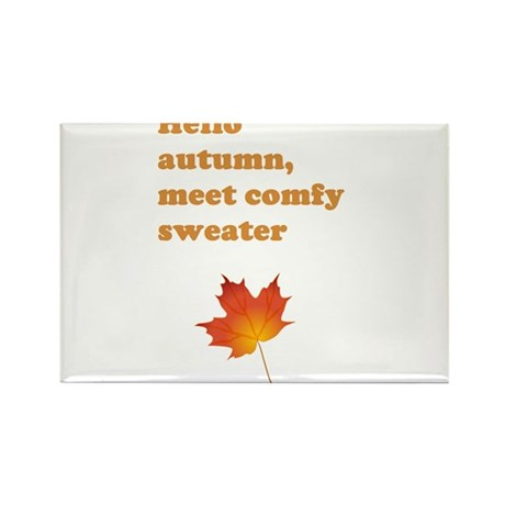 Autumn comfy sweater Rectangle Magnet